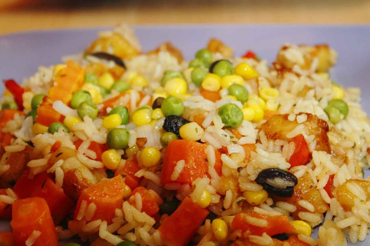 10KeyThings-Vegetable-Rice Quick Vegan foods