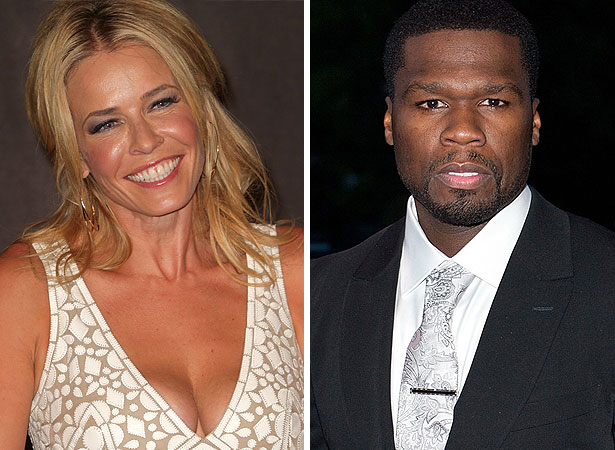 Chelsea-Handler-and-50-Cent Why a 10-er lady gets with a 5-er man